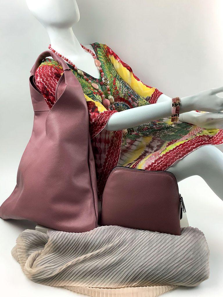 Cashmere & Co - bunt-gemusterte Tunika und passende Taschenauswahl von München Süd - Sommerkollektion 2020