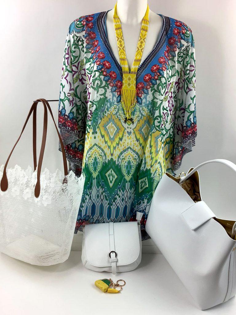 Cashmere & Co - sommerliche Tunika und passende Taschenauswahl von München Süd - Sommerkollektion 2020