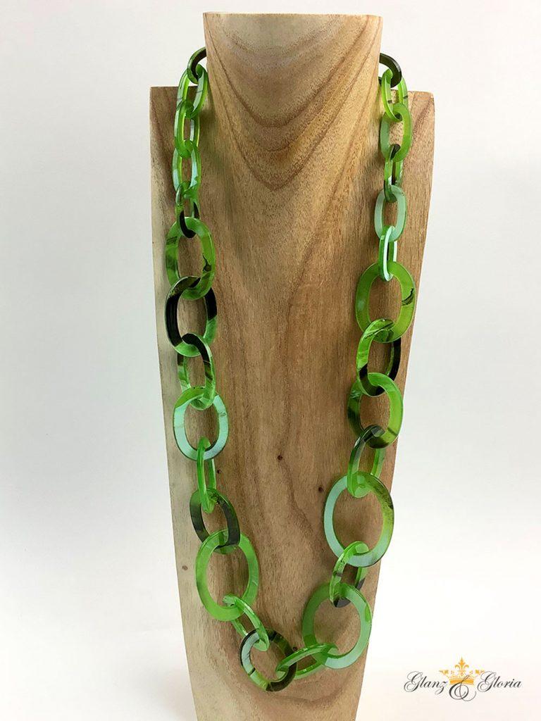 Glanz & Gloria - Statement-Halskette in Grün - Sommerkollektion 2020