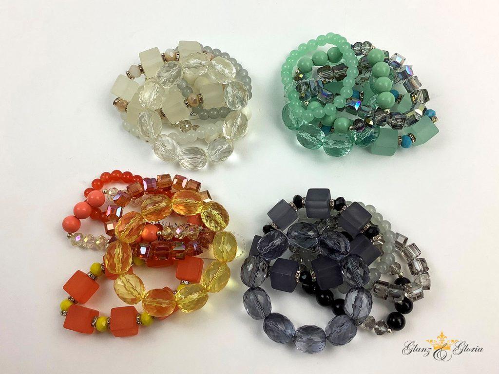 Glanz & Gloria - Armbänder aus Glasperlen in diversen Farben - Sommerkollektion 2020