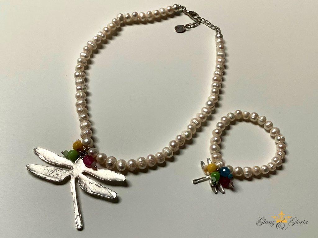 Glanz & Gloria - Halskette und Armschmuck mit Libelle - Sommerkollektion 2020